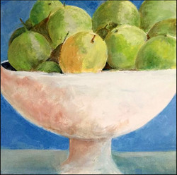 White Bowl with Fruit 12x12 (sold)
