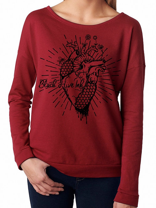Maroon Heart Sweater