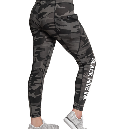 Black Hive Camo Leggings