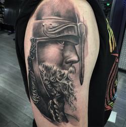 viking warrior tattoo realism
