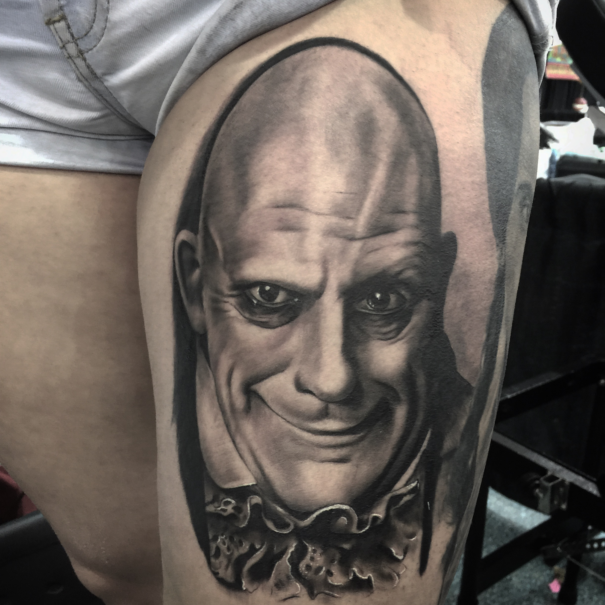 fester portrait tattoo