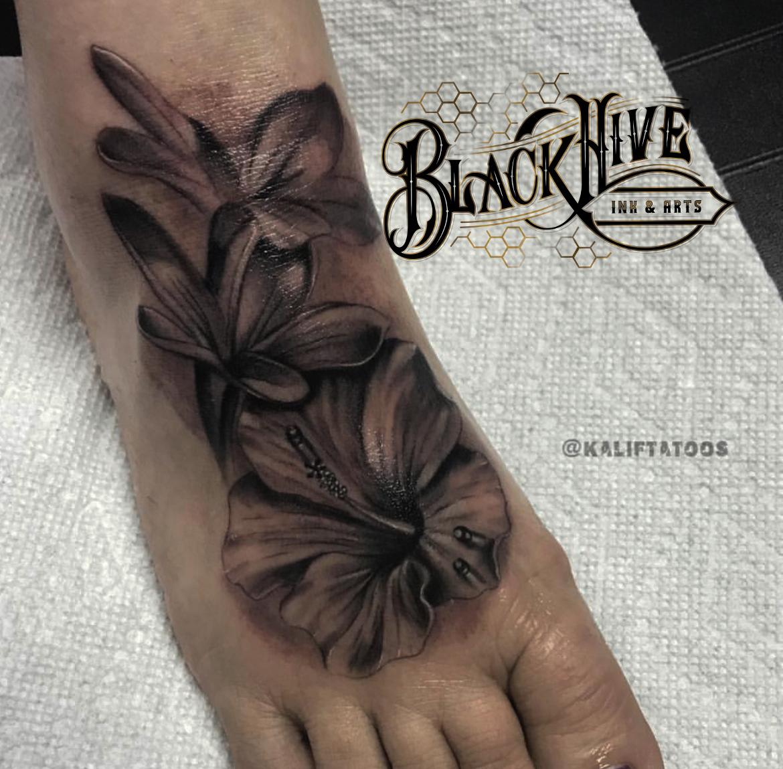 flower tattoo best black and grey