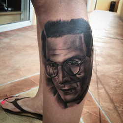 ghost buster tattoo portrait
