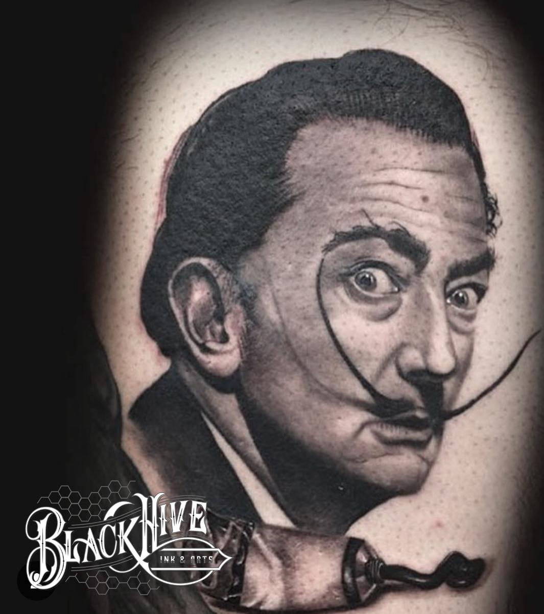 DALI black and grey tattoos