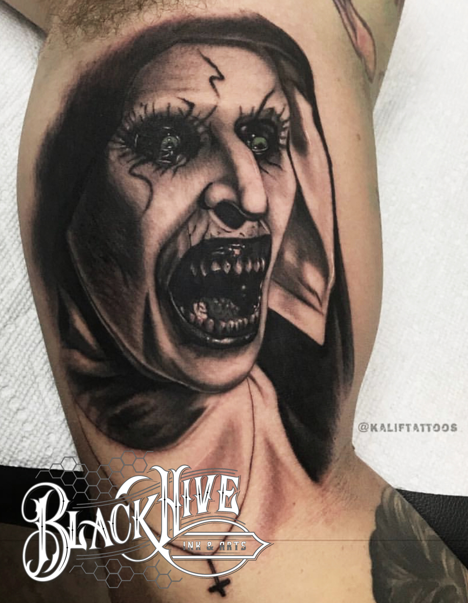 best horror tattoo