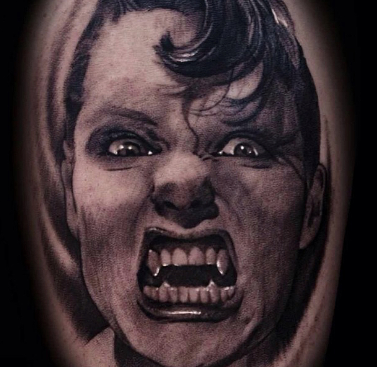 horror tattoo portrait