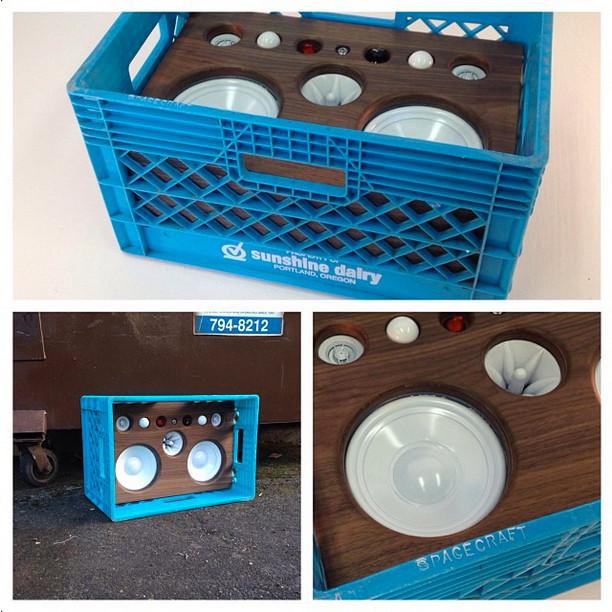 Milk Crate BoomBox