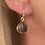 Thumbnail: Boucles d'oreilles Petites Gouttes Crystal Fumé