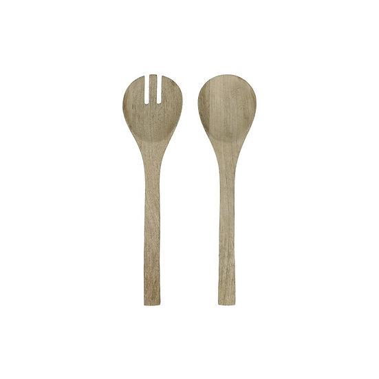 Set de 2 Cuillère+Fourchette en Bois de Manguier Noir