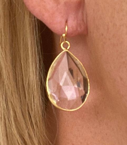 Boucles d'oreilles Gouttes Crystal Transparent