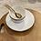Thumbnail: Assiette à Dessert Bordée Doré en Porcelaine
