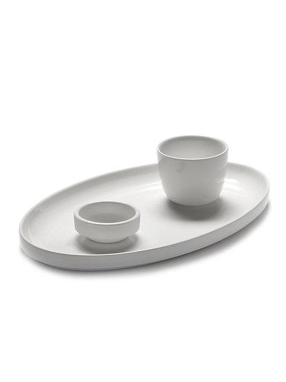 Plat Assiette Ovale Blanc Mat Vincent Van Duysen pour Serax