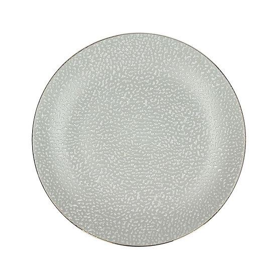 Assiette à Dessert Bordée Doré en Porcelaine