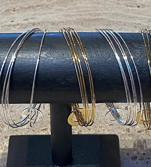 Bracelet Jonc Multi-rangs Semainier + Rondelle