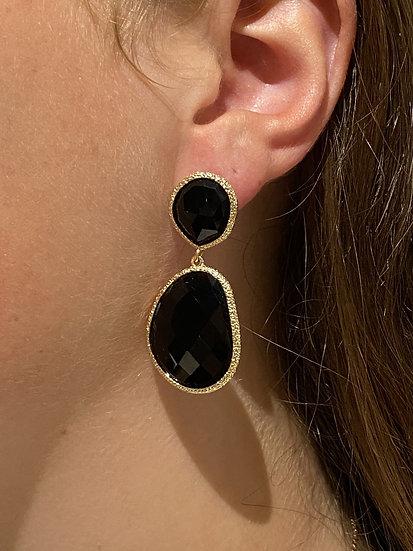 Boucles d'oreilles Joséphine Noires