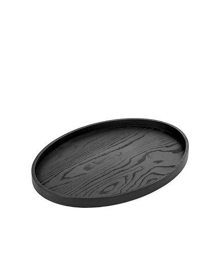 Plateau Bois Ovale Noir Vincent Van Duysen pour Serax 43,6x31,6 cm
