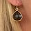 Thumbnail: Boucles d'oreilles Gouttes Crystal Noir