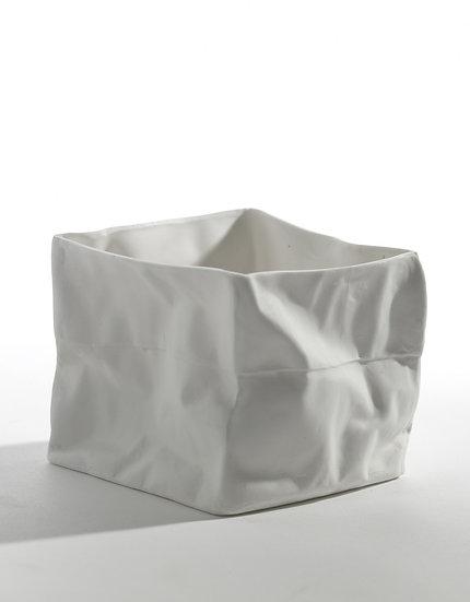 """Photophore Porcelaine """"Sac En Papier"""" Kiki Van Eijck pour Serax"""