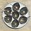 Thumbnail: Assiette de présentation ronde en Aluminium Ardoise, intérieur en émail blanc