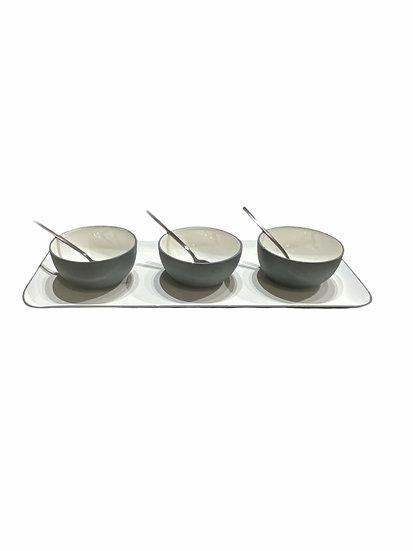 Assiette de présentation rectangulaire en Aluminium Ardoise, intérieur en émail