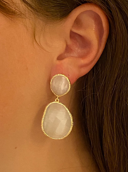 Boucles d'oreilles Joséphine Blanches