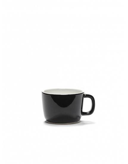Tasse à Cappuccino Email Noir Serax