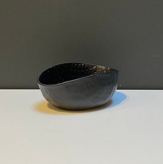 Bol mini en Aluminium Strié Noir
