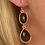 Thumbnail: Boucles d'oreilles Double Crystal Noir Long