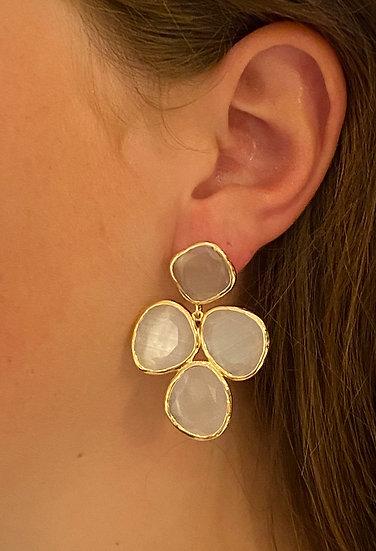 Boucles d'oreilles Raphaëlle Blanches