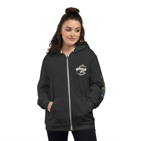 Tattooed Murdock13 Zip Up Hoodie