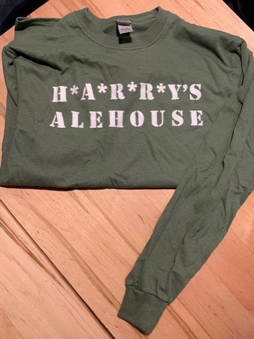 Harry's Army Green Alehouse Long Sleeve Shirt