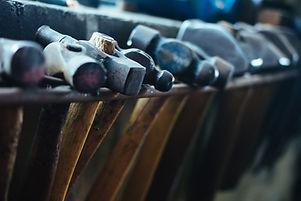Marteaux sur rack