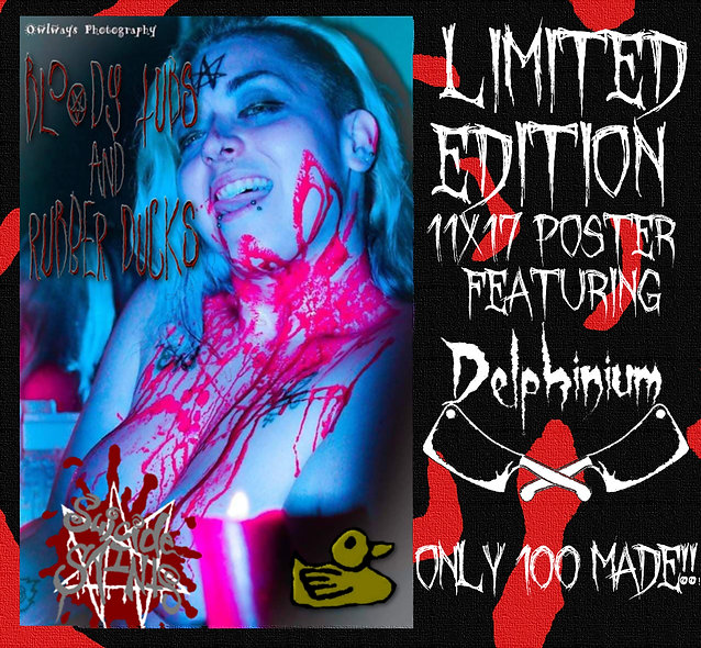 Delphinium Gore Bloody Tub 11x17 Limited Edition Poster