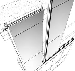 3D Model - Unitized Glazing