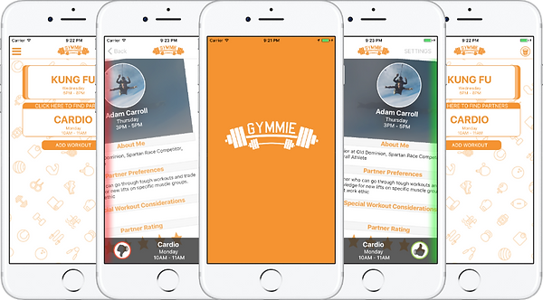 Gymmie App: Front End Developed by Kinnectus