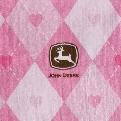 John Deere Pink / Toddler, Youth and Adult Masks