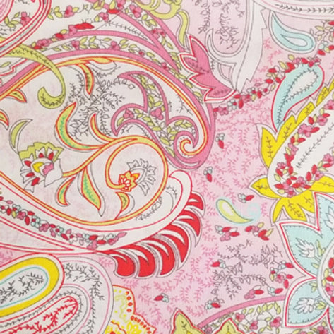 Soft Pink Paisley  / Toddler, Youth and Adult Masks