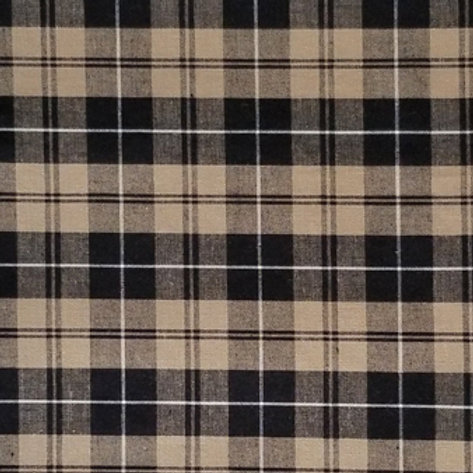 Black Taupe Plaid / Toddler, Youth and Adult Masks
