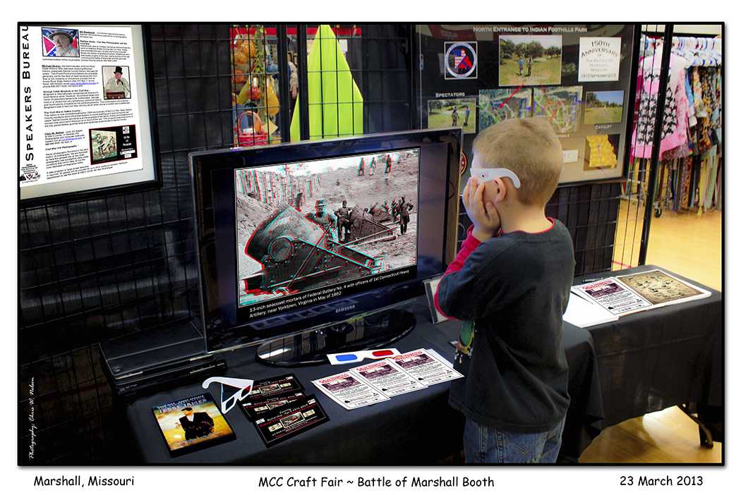 2013-03-23_1132_MCC_Crafts_Fair_MHS_Battle_of_Marshall_Booth