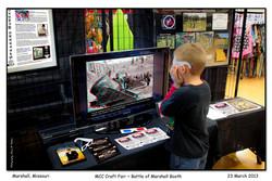 2013-03-23_1132_MCC_Crafts_Fair_MHS_Battle_of_Marshall_Booth