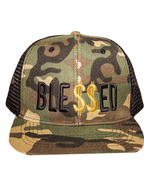 Ble$$ed Snapback Hat Camo