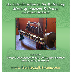 An Introduction to Kulintang Music of Ancient Dulawan by Titania Bucholdt
