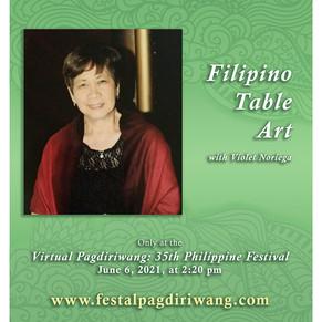Filipino Table Art by Violet Noriega