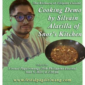 Cooking Demo by Silvain Alarilla of Snor's Kitchen