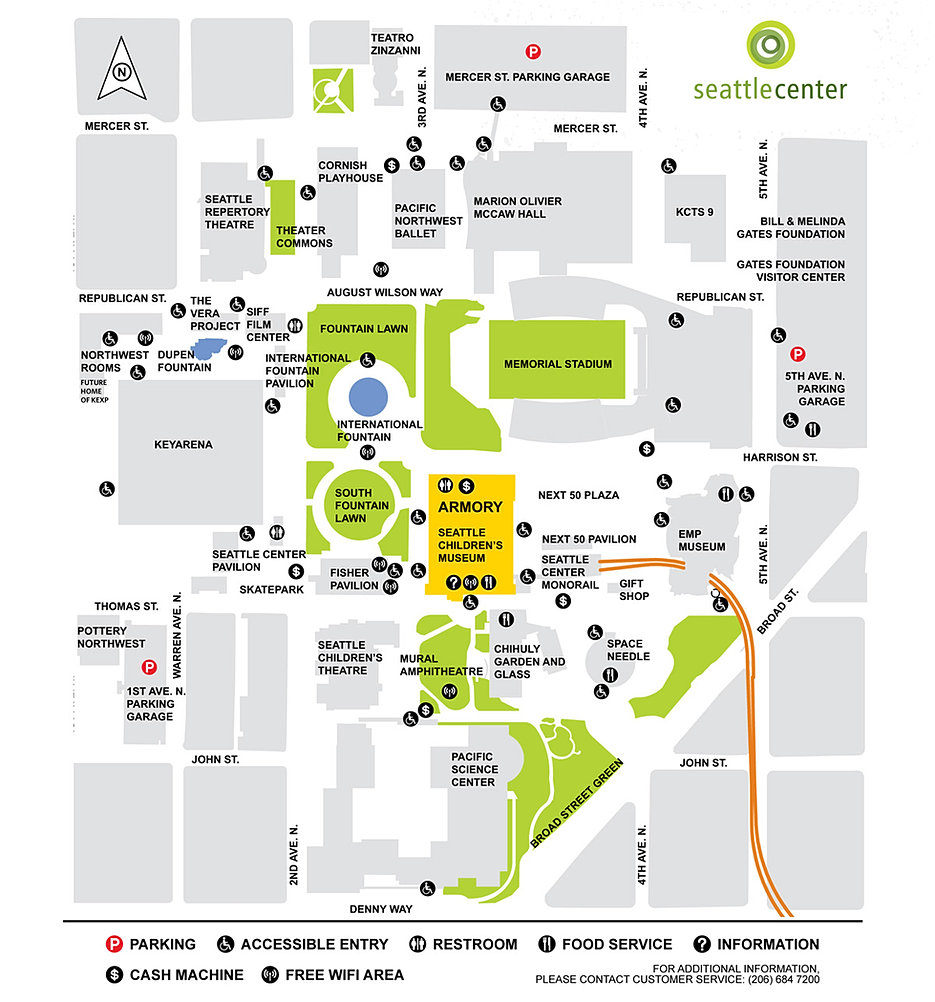 seattle center campus map. center campus map