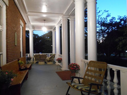 Lewiston Maine Inn Agora front porch
