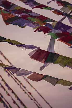 FLOATING PRAYER FLAGS [KATHMANDU, NEPAL]