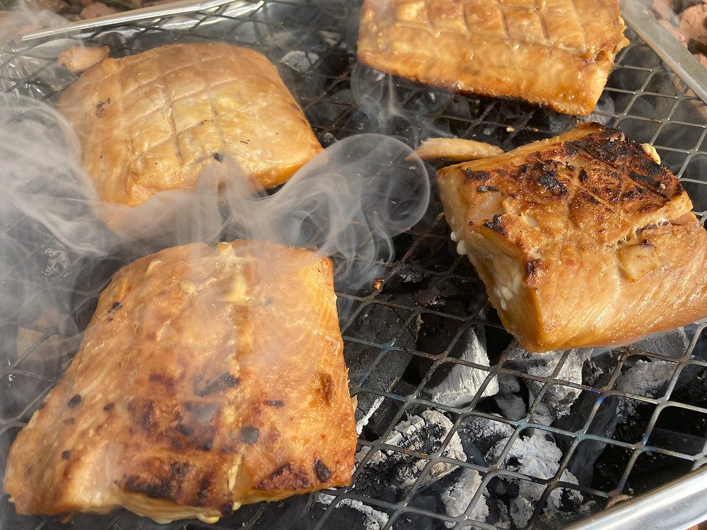 Pink Salmon on the BBQ