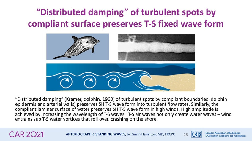 """""""Distributed damping"""" of turbulent spots by compliant surface preserves T-S fixed wave form"""
