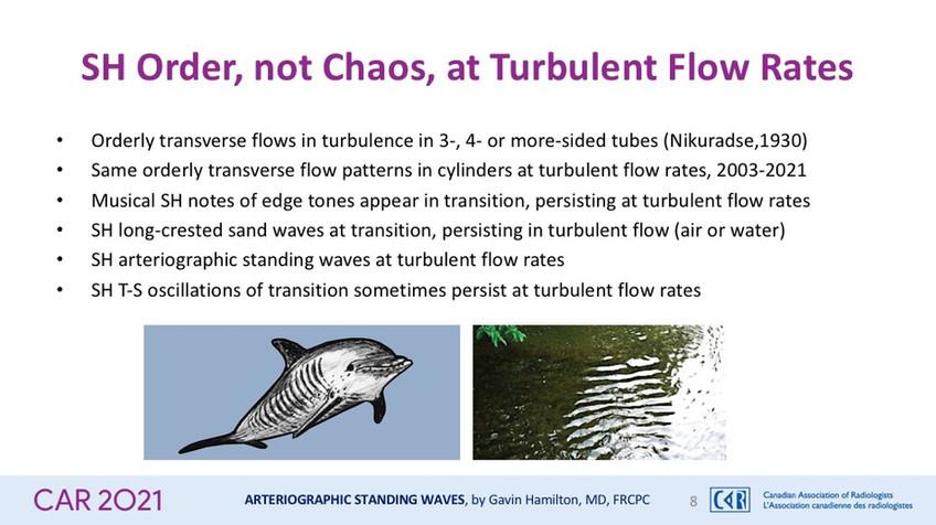 SH Order, not Chaos, at Turbulent Flow Rates